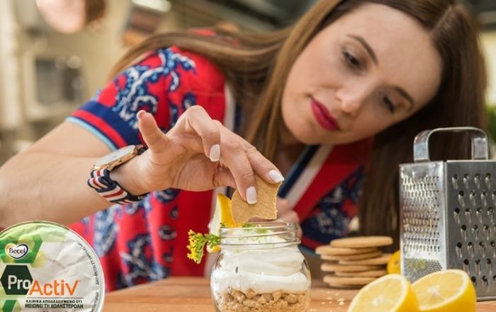 ιστορίες της Κουζίνας │ Μους λεμόνι με μπισκότα και κρέμα από επιδόρπιο γιαουρτιού Becel ProActiv!