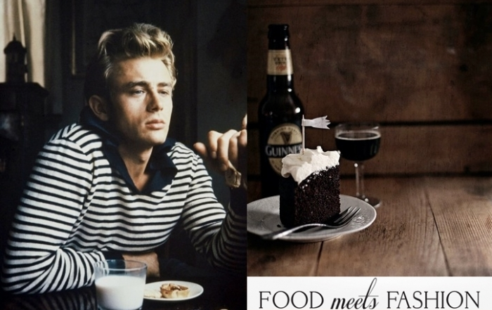 Food Meets Fashion | James Dean + Chocolate Cake